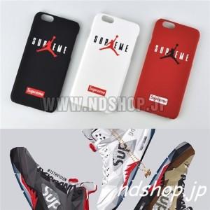 【iPhone6/6plus】Supreme シュプリーム エアージョーダン ペアケース
